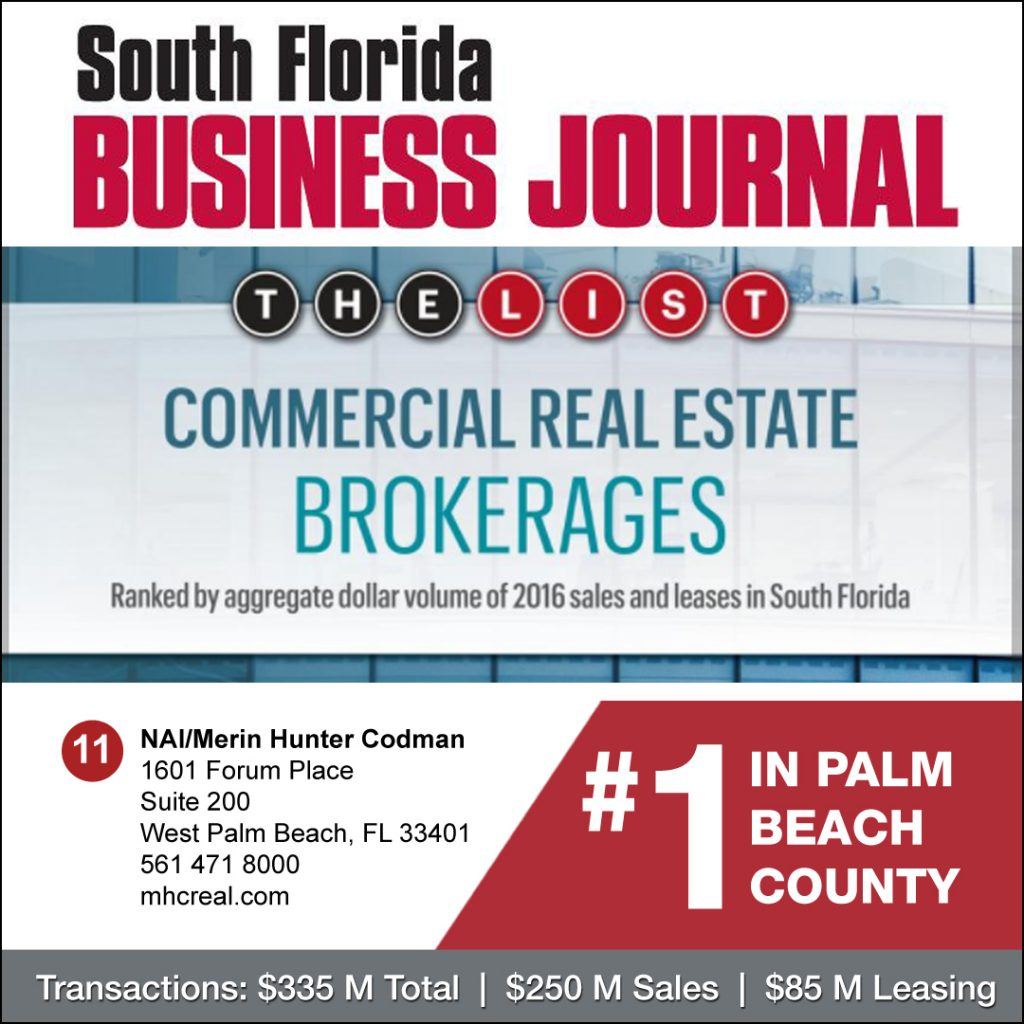 Nai Merin Hunter Codman Is 1 Cre Brokerage In Palm Beach County